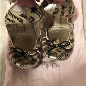 Juicy Couture ballet slippers with dust bag